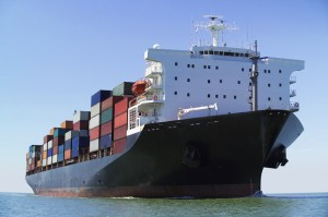 Container-ship-on-ocean